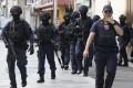 Police in tactical gear in Bangkok. Photo: AP