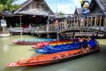 Empty tourist boats at the Floating Market in Pattaya, on Wednesday. Pattaya is one of the main destinations for Chinese tourists but is almost deserted because of the Covid-19 outbreak. Photo: AFP
