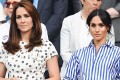 Kate Middleton, seen with Meghan Markle, sports a Cartier Ballon Bleu watch. Photo: @katemiddlet0n/Instagram