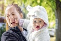 Broken noses, black eyes, lost teeth: you can't let your guard down when dealing with an excited baby or toddler. Photo: Getty Images