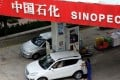 Sinopec is offering to deliver groceries directly into customers' trunks amid the coronavirus outbreak. Photo: Reuters