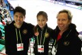 (From left) Harrison Wong, Kahlen Cheung and Craig Heath represent Hong Kong at the 2020 ISU Four Continents Figure Skating Championship in South Korea. Photo: Handout