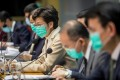 Carrie Lam Cheng Yuet-ngor, Hong Kong's chief executive, speaks while wearing a protective face mask during a news conference on January 31. Photo: Bloomberg