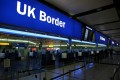 UK border control is seen at Terminal 2 at Heathrow Airport in London in June 2014. Photo: Reuters
