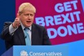 British Prime Minister Boris Johnson delivers a speech on October 2, 2019, at the Conservative Party conference in Manchester. Photo: AP