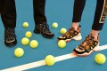 Fendi's FFluid sneakers are a comfortable – and colourful – choice for a day on the tennis court. Photo: Fendi