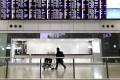 Passenger numbers at Hong Kong airport have fallen rapidly. Photo: DPA
