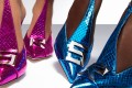 Bold and shiny is Sergio Rossi's motto for spring/summer. CEO Riccardo Sciutto says the new trend is more comfortable shoes and lower heels. Photo: Sergio Rossi