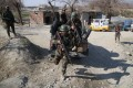 Afghan soldiers patrol at a check point in Nangarhar province. Photo: EPA