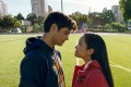 Lana Condor and Noah Centineo in a still from To All the Boys I've Loved Before. Photo: Netflix