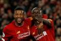Liverpool's Sadio Mane (right) celebrates scoring a goal with Georginio Wijnaldum against West Ham. Photo: Reuters