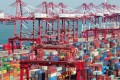 The average wait time for container vessels at Zhoushan in southern China – the third-largest container port in the world by annual handling capacity – spiked to more than 60 hours in the second week of February. Photo: Xinhua