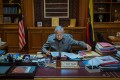 Mahathir Mohamad in the Prime Minister's Office of Malaysia. Photo: EPA