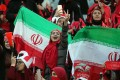 Iranian women football supporters at the Azadi stadium in Tehran where Hong Kong is expected to play in the World Cup Asian zone qualifier on March 26. Photo: EPA-EFE