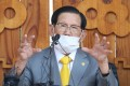 Lee Man-hee, leader of the Shincheonji Church of Jesus, speaks during a press conference in Gapyeong, South Korea. Photo: AFP