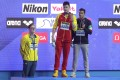 This photo of Mack Horton and Sun Yang, with bronze medallist Gabriele Detti, from last year's world championships now holds even more meaning. Photo: AP