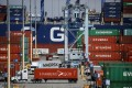 The Covid-19 outbreak is already weighing on global trade. The Port of Los Angeles, the gateway to US-China trade, has forecast a 25 per cent decline in container volumes in March. Photo: Bloomberg
