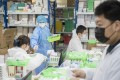 The record slump in China's factory activity in February included a drop in pharmaceutical manufacturing. Photo: Xinhua