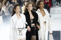 Paris Fashion Week took a hit to its numbers due to the coronavirus, but collections by designers including Chanel (modelled by Gigi Hadid, centre, and other models), Louis Vuitton and Dior offered fashionistas a glimpse of upcoming fall/winter collections. Photo: AP