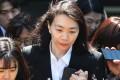 Former Korean Air executive Heather Cho, or Cho Hyun-ah, is seen outside court in 2019. Photo: AP