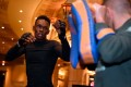 Israel Adesanya during the UFC 248 open workouts at MGM Grand in Las Vegas. Photo: Jeff Bottari/Zuffa LLC via Getty Images