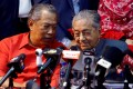 Malaysia's then Prime Minister Mahathir Mohamad, right, pictured with his successor Muhyiddin Yassin when the two were allies in 2018. Photo: Reuters