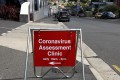 A sign for an interim assessment clinic in Australia. Photo: EPA-EFE