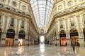 Milan's Galleria Vittorio Emanuele II, deserted as Italy's lockdown continues. Photo: Xinhua