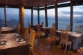 The dining area at Tenku RyuGin is simple as the focus is on the views and the food. Photos: handouts