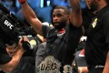 Tyron Woodley celebrates after defeating Demian Maia in a welterweight title defence at UFC 214 in 2017. Photo: AFP
