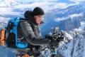 Craig Leeson films at Aiguille du Midi, on Mont Blanc, France. Photo: The Last Glaciers