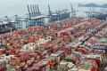 The value of China's exports for January and February fell 17.2 per cent from the equivalent period of 2019 to US$292.45 billion. Photo: Martin Chan