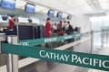 Cathay Pacific said it carried 1 million passengers in February, down by two-thirds from a year earlier. Photo: AFP