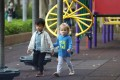 Children play together at the Victoria Park playground in Causeway Bay on March 13. Photo: Dickson Lee