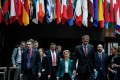 European Union leaders met in Brussels on March 16 where they pledged greater coordination to fight the spread of the coronavirus. Photo: AFP