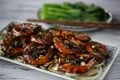 Susan Jung's soy sauce prawns. Photography: Jonathan Wong. Styling: Nellie Ming Lee