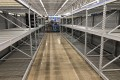 Empty shelves at a Walmart in Sulphur Springs, Texas, on March 18, after people stocked up on toilet paper and sanitiser amid the coronavirus outbreak. Photo: EPA-EFE