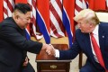 North Korean leader Kim Jong-un and US President Donald Trump shake hands during a meeting in June 2019. Photo: AFP