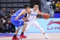 Jeremy Lin in action during his first game for the Beijing Ducks against the Tianjin Pioneers in the Chinese Basketball Association. Photo: Sina Sports
