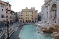 The Trevi Fountain in Rome, deserted Monday during Italy's coronavirus lockdown. The death toll of 601 in the previous 24 hours was a decline from the weekend. Photo: EPA-EFE via ANSA