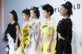 Models for Caroline Hu at Shanghai Fashion Week March 2019. Photo: Getty Images for The Business of Fashion