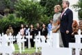 King Willem-Alexander and Queen Maxima of the Netherlands visit a Dutch war cemetery in Jakarta. Photo: Reuters