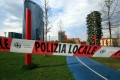 Porta Nuova park closed after the banning for outdoor sports activities and the use of children's areas due to the Coronavirus emergency in Milan. Photo: EPA-EFE