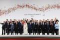G20 leaders meet in Osaka last year. They will hold talks via teleconference on the coronavirus crisis on Thursday. Photo: AFP
