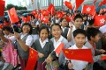 A flag-raising ceremony at Golden Bauhinia Square, in Wan Chai, in 2006, to mark the May Fourth Movement. Photo: SCMP