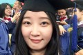 A 2016 selfie provided by her family shows Zhang Yingying in a cap and gown at Peking University Shenzhen Graduate School. Photo: Zhang family via AP