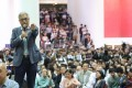 Hong Kong University of Science and Technology president Wei Shyy attends a forum in November last year to discuss Chow Tsz-lok's fall from a car park. Photo: Dickson Lee