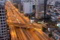 An empty highway in Lima, the capital of Peru, after authorities ordered curbs on travel. Photo: EPA