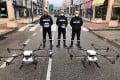 UME soldiers testing DJI Agras MG-1 drones in Madrid last week. Photo: Handout