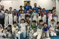 Italian Olympic gold medallist Andrea Cassara with Wong Tsan (back row, left) at the Hong Kong Fencing School in August. Photo: Hong Kong Fencing School